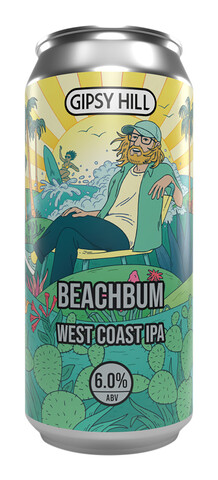 En boks med Gipsy Hill Beachbum West Coast IPA