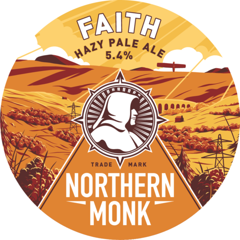 Northern Monk Faith keg badge