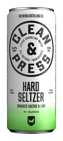 Bilde av en boks med Clean & Press Hard Seltzer Cactus & Lime.