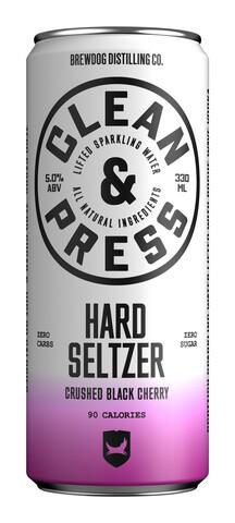 Bilde av en boks med Clean & Press Hard Seltzer Cherry.