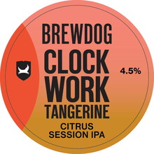 BrewDog Clockwork Tangerine tap lense