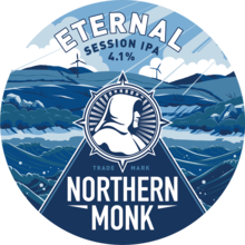 Northern Monk Eternal keg badge