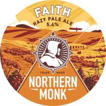 Northern Monk Faith keg badge